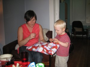 Mom Shows Sloan how to open now